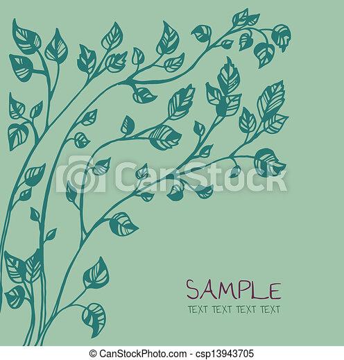 カード, 木, 図画, テンプレート, インク - csp13943705