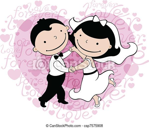 カード, 結婚式 - csp7575908