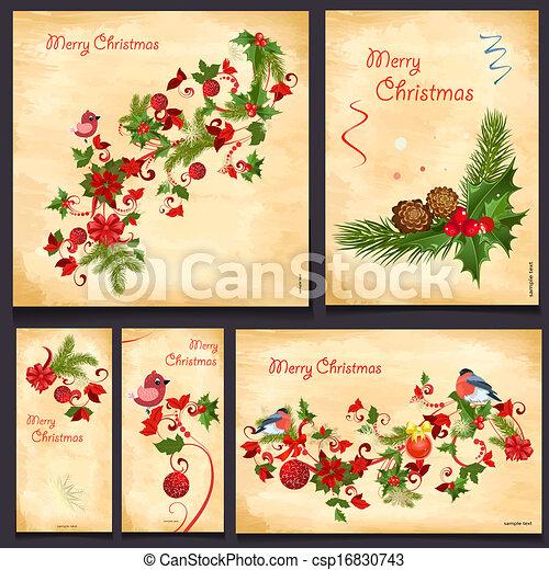 カード, 花, デザインを設定しなさい, あなたの - csp16830743