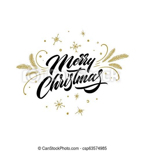 カード Lettering 挨拶 メリークリスマス 手書き レタリング 装飾 クリスマス 陽気 金 挨拶 隔離された イラスト Calligraphic バックグラウンド ベクトル Wishes 年