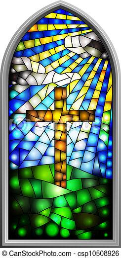 ガラス窓, 汚された - csp10508926