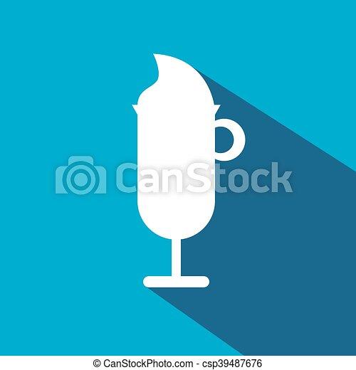 ガラス, コーヒーアイスクリーム - csp39487676