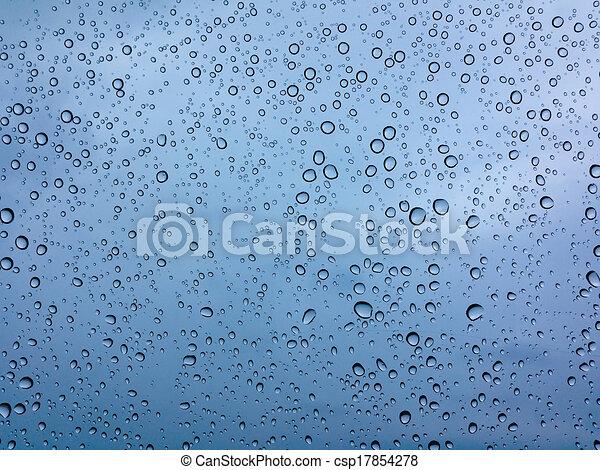 ガラス, 低下, 雨 - csp17854278