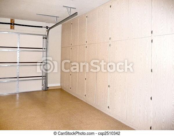 ガレージ, 貯蔵, 戸棚 - csp2510342