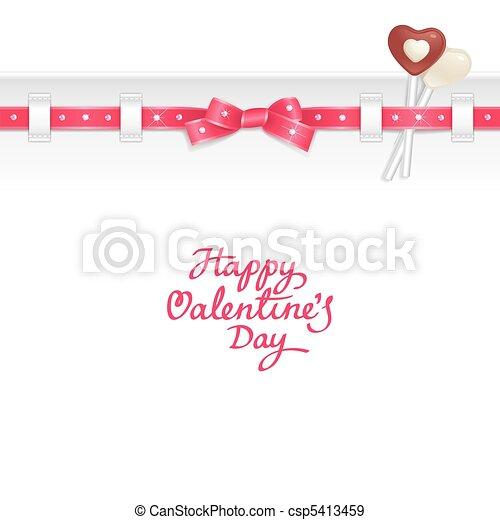 キャンデー, 背景, バレンタイン - csp5413459