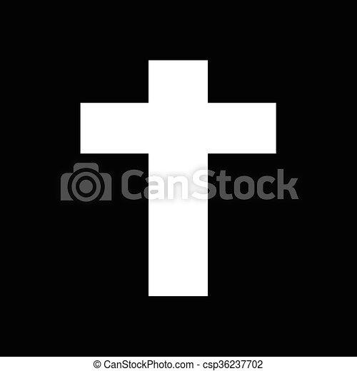 キリスト教徒, デザイン, 交差点, イラスト, アイコン - csp36237702