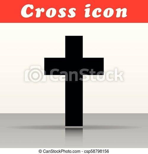 キリスト教徒, ベクトル, デザイン, 交差点, アイコン - csp58798156