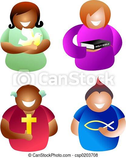 キリスト教徒, 人々 - csp0203708