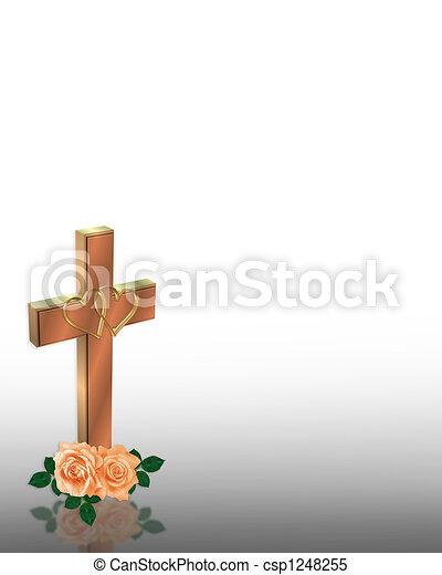 キリスト教徒, 招待, 結婚式, 交差点 - csp1248255