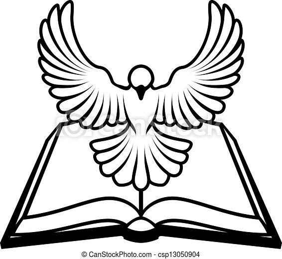 キリスト教徒, 概念, 鳩, 聖書 - csp13050904