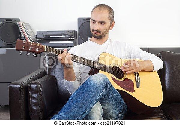 ギター プレーヤー - csp21197021