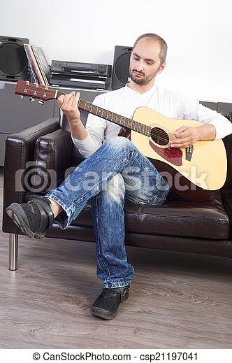 ギター プレーヤー - csp21197041