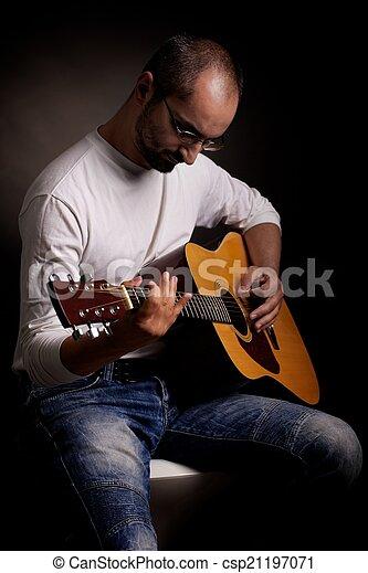 ギター プレーヤー - csp21197071