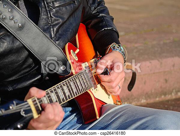 ギター プレーヤー, 電気である - csp26416180