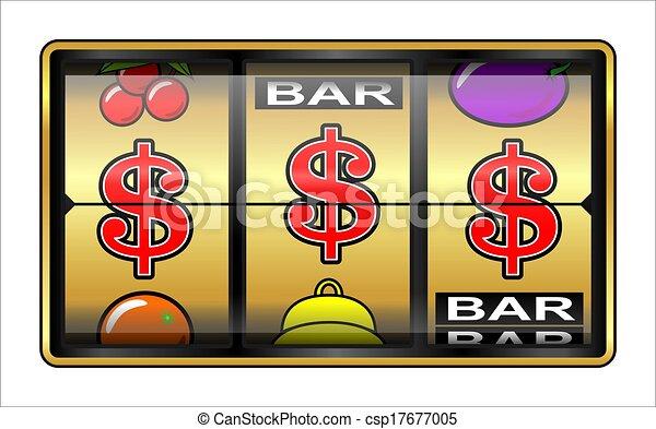 ギャンブル, $, イラスト - csp17677005