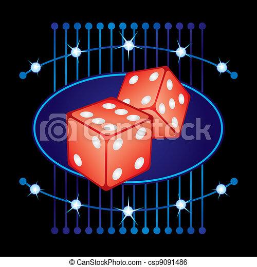 ギャンブル, ネオン - csp9091486