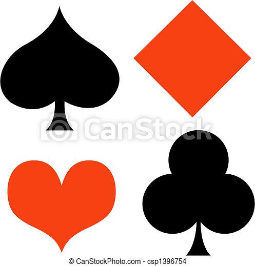 ギャンブル, ポーカー, 芸術, クリップ, ギャンブル, カード - csp1396754