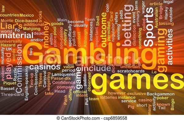 ギャンブル, 賭け, 概念, 白熱, 背景 - csp6859558