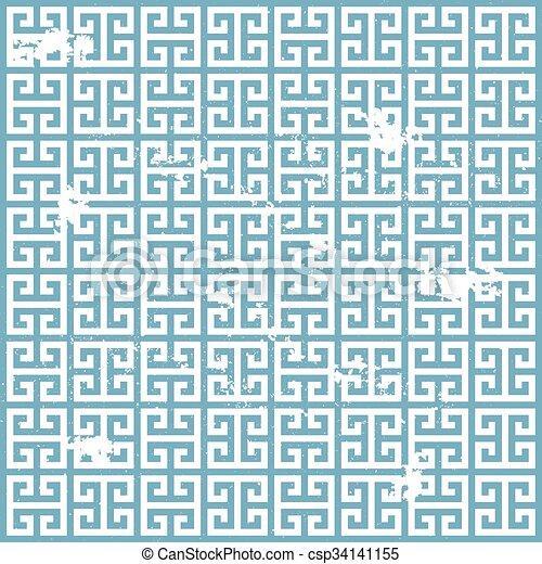 ギリシャ語, グランジ, パターン - csp34141155