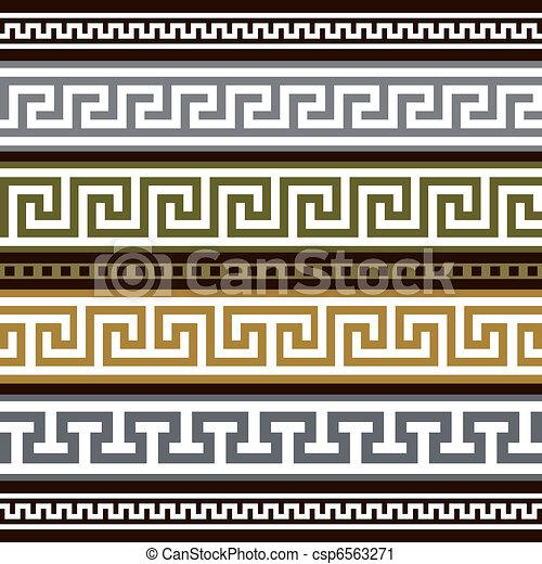 ギリシャ語, ボーダー, ベクトル, セット - csp6563271