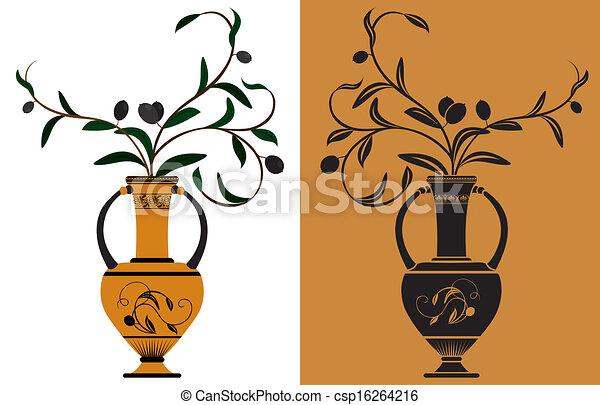 ギリシャ語, 古代, amphora - csp16264216