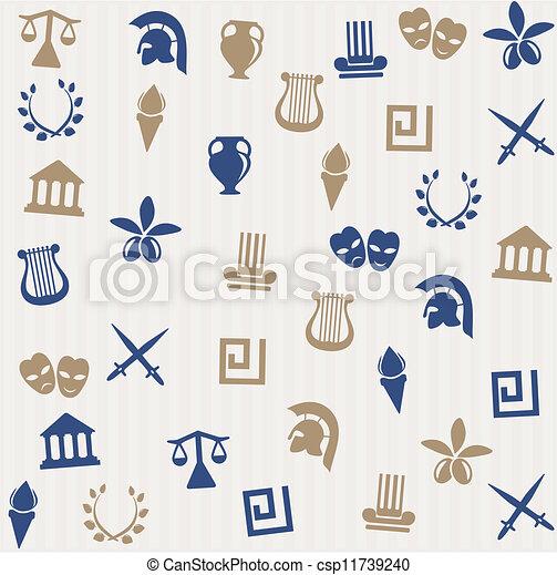 ギリシャ語, seamless, パターン - csp11739240