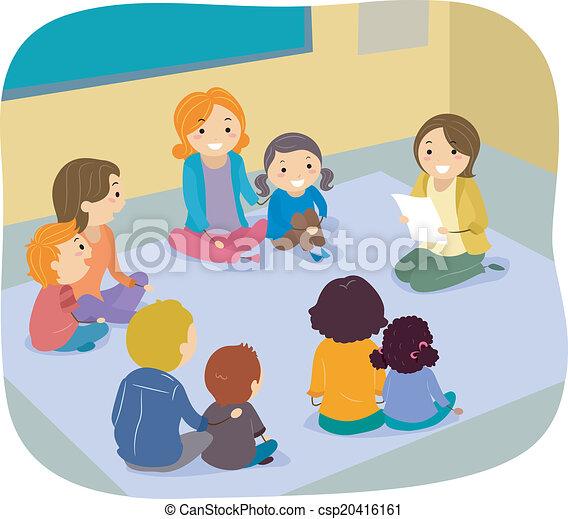 クラス, 親, 子供, 活動 - csp20416161
