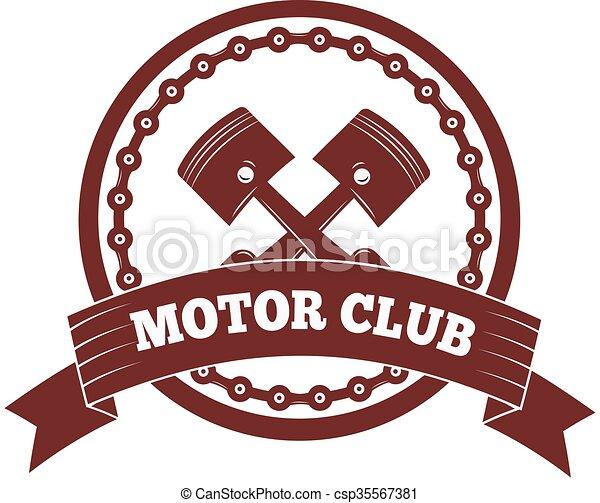 クラブ イラスト ラベル 黒 オートバイ Vector Moto バッジ