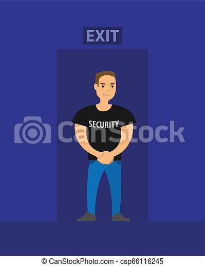 クラブ, ベクトル, 安全, 夜, 出口, セキュリティー - csp66116245