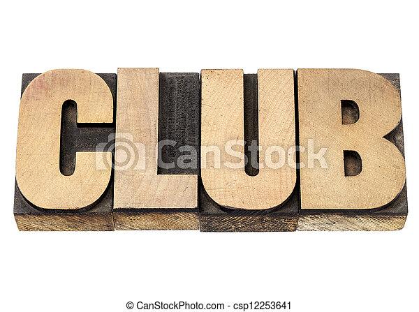クラブ, 単語木, タイプ - csp12253641