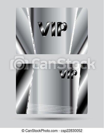 クラブ, vip, 銀, カード - csp22830052