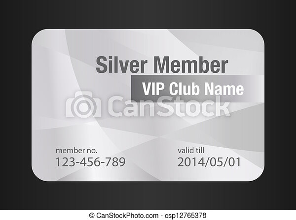 クラブ, vip, 銀, カード - csp12765378