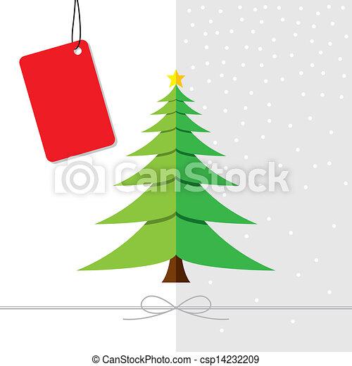 クリスマスツリー, デザイン - csp14232209