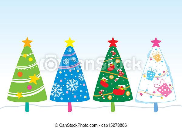 クリスマスツリー, デザイン - csp15273886