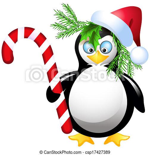 クリスマス, キャンデー, ペンギン - csp17427389