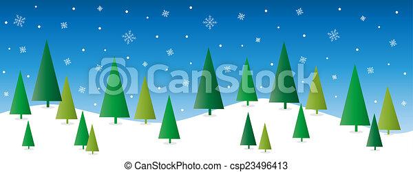 クリスマス, ホリデー, 幸せ, 陽気 - csp23496413