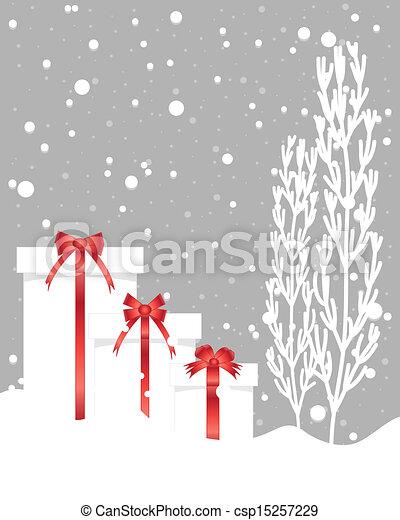 クリスマス, 優雅さ - csp15257229