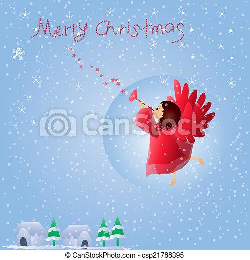 クリスマス, 天使 - csp21788395