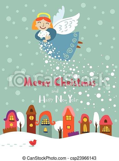 クリスマス, 天使 - csp23966143