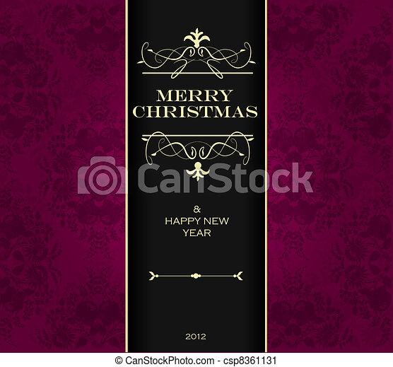 クリスマス, 招待, card. - csp8361131