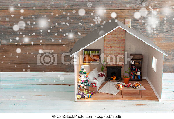 クリスマス, 背景 - csp75673539