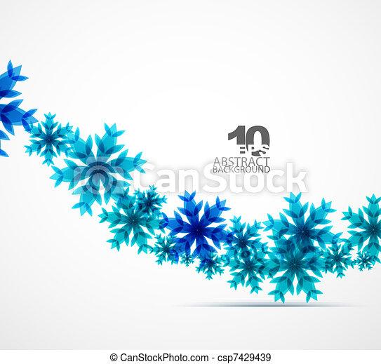 クリスマス, 背景, 雪片 - csp7429439