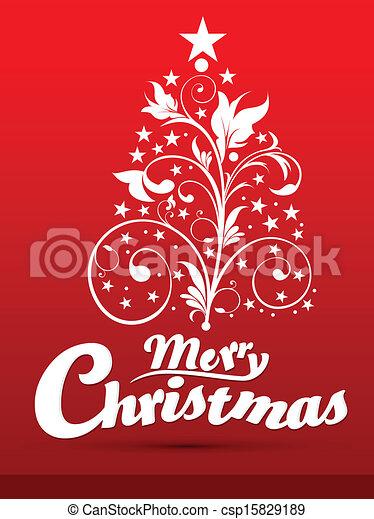 クリスマス, 芸術的, 抽象的 - csp15829189