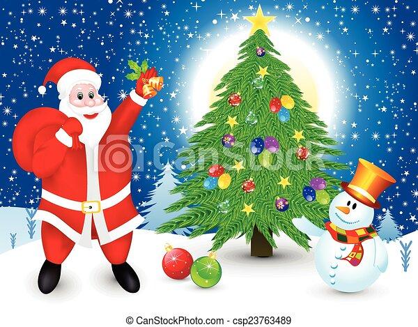 クリスマス, 芸術的, 抽象的 - csp23763489