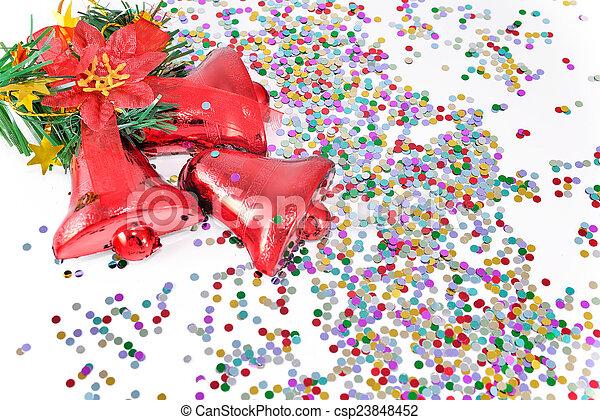 クリスマス, 鐘 - csp23848452