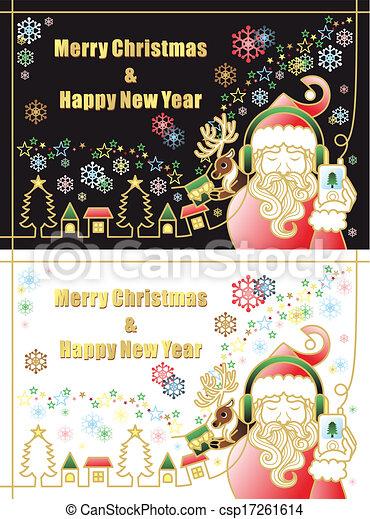 クリスマス, 陽気 - csp17261614
