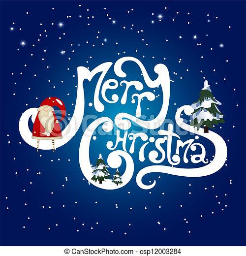 クリスマス, 陽気 - csp12003284