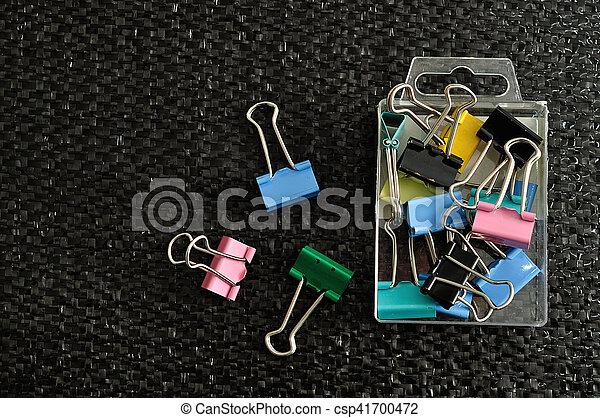 クリップ, つなぎ, 容器, カラフルである - csp41700472