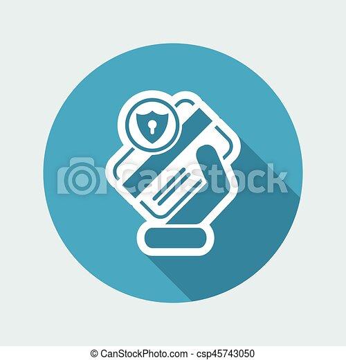 クレジット, セキュリティー, カード - csp45743050