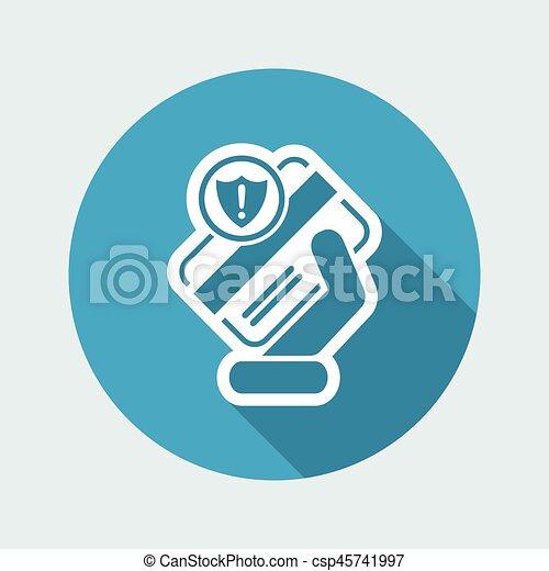 クレジット, セキュリティー, カード - csp45741997